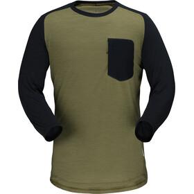 Norrøna Skibotn 3/4 Wool T-Shirt Herren olive drab